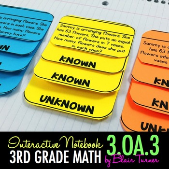 Interactive Notebook - Multiplication and Division Word Pr