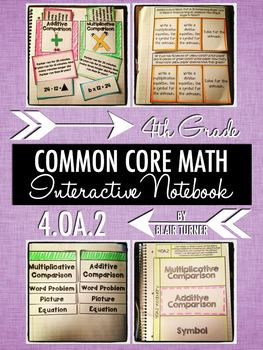 Interactive Notebook Activities - Comparison Word Problems