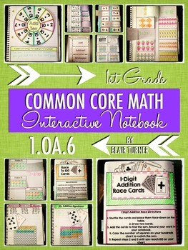 Interactive Notebook Activities - Fact Fluency {1.OA.6}