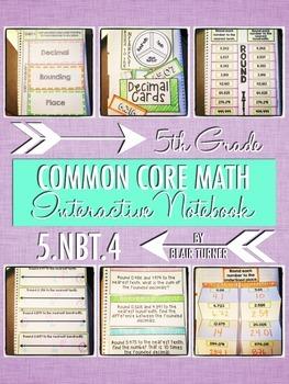 Interactive Notebook Activities - Rounding Decimals {5.NBT.4}