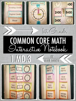 Interactive Notebook Activities - Telling and Writing Time
