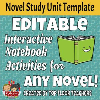 EDITABLE Interactive Notebook Activities for ANY Novel