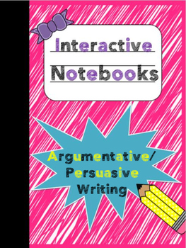 Interactive Notebook - Argumentative/Persuasive Writing Foldable