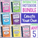 Interactive Notebook Bundle: Create Your Own! Choose Any 5