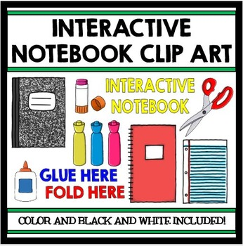Interactive Notebook Clip Art Set: Color and Black Line Ve