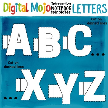 Interactive Notebook Clipart Templates Alphabet Letters