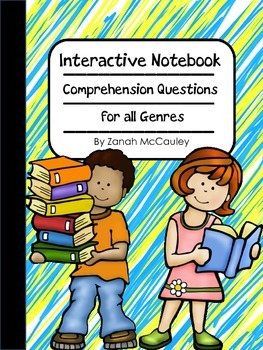 Interactive Notebook Comprehension Questions for All Genre
