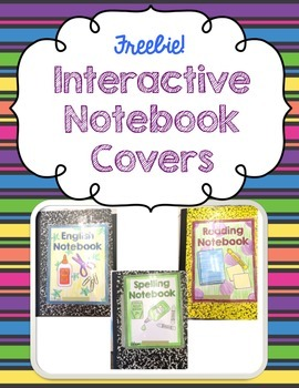 Interactive Notebook Covers ~ FREEBIE! ~ ELA, Reading, Eng