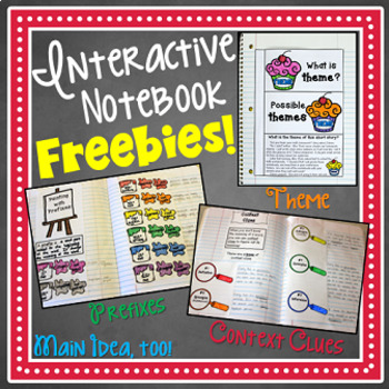 Interactive Notebook Craftivity Companions FREEBIE