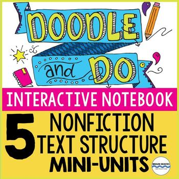 Interactive Notebook Doodle and Do - 5 Units on Nonfiction