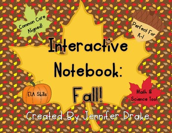 Interactive Notebook: Fall!  Hands-On ELA, Math & Science