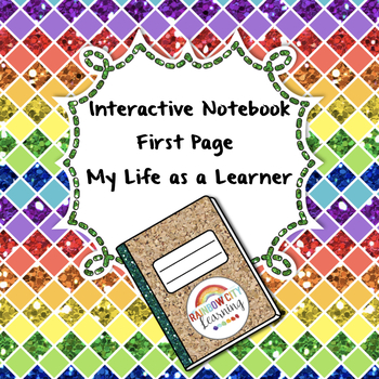 All About Me: Interactive Notebook First Pages