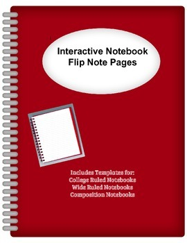 """Interactive Notebook """"Flip"""" Page Templates"""