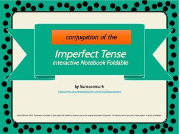 Interactive Notebook Foldable - El Imperfecto