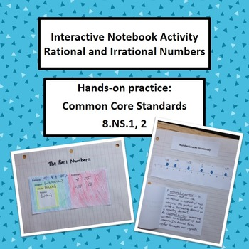 Rational Irrational Numbers Interactive Notebook Foldable