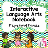 Interactive Notebook Freebie for Prepositional Phrases