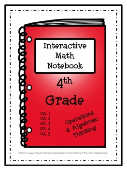Interactive Notebook / Journal -  Algebra  & Operations (O
