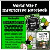 Interactive Notebook / Journal - WORLD WAR 1- Social Studi