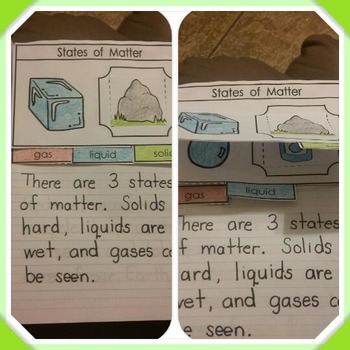 Interactive Notebook Science-States of Matter (English only)