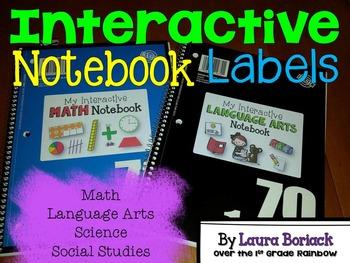 Interactive Notebook Labels ~ FREEBIE