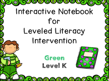 Interactive Notebook Leveled Literacy Intervention LLI Boo