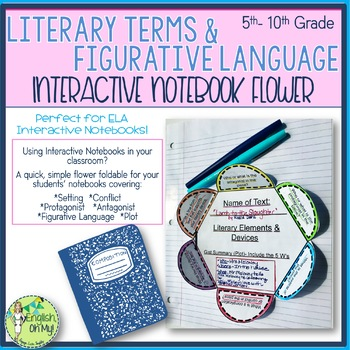 Interactive Notebook-Literary Terms-6-Petal Flower