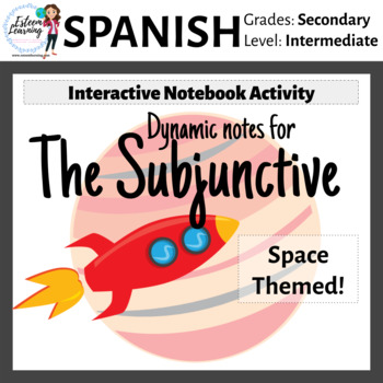 Spanish Subjunctive Notes for Interactive Notebook - Space