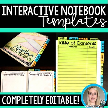 Editable Interactive Notebook Templates