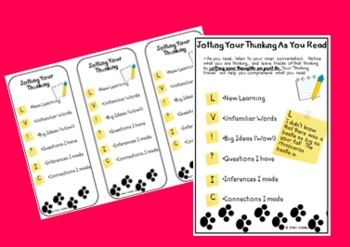 Interactive Notebook Pages & Bookmarks-Citing Evidence &Jo