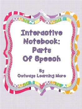 Interactive Notebook - Parts of Speech
