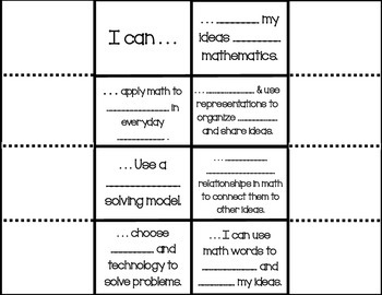 Interactive Notebook - TEKS Math Process Standards