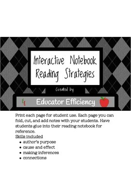 Interactive Notebook-Reading Strategies