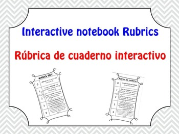 Interactive Notebook Rubric - English & Spanish