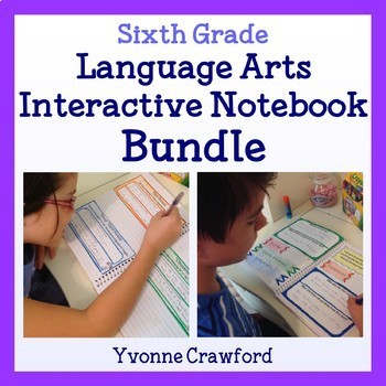 Interactive Notebook Sixth Grade Common Core Bundle - Engl