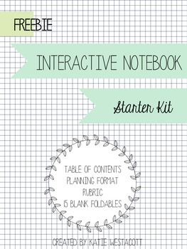 Interactive Notebook Starter Kit Freebie