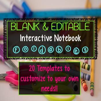 Blank Interactive Notebook Templates