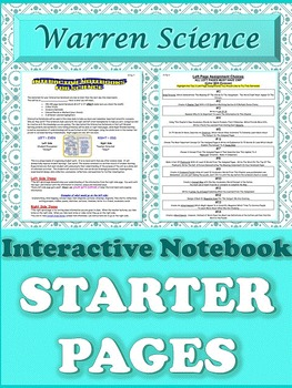 Interactive Notebook Starter Pages
