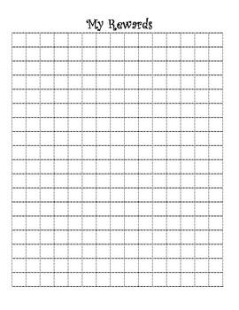 Interactive Notebook Student Reward Grid Log