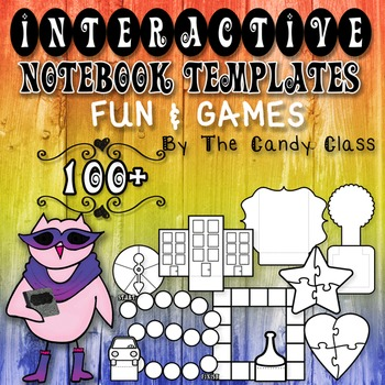 Interactive Notebook Templates 100+ Fun & Games {Game Boar