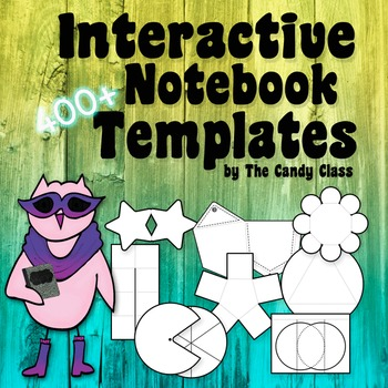 Interactive Notebook Templates 400+ (Commercial PNGs & Editable)