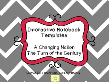Interactive Notebook Templates Industrial Revolution {A Ch