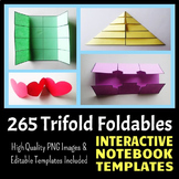 Interactive Notebook Templates - Easy to Cut Trifold Pack