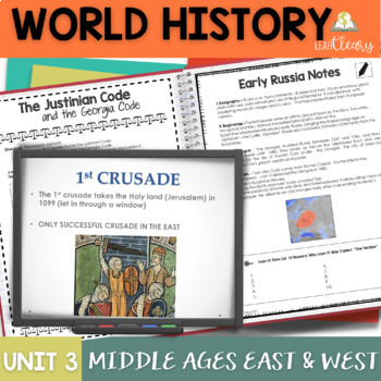 The Middle Ages in the East and West Interactive Notebook