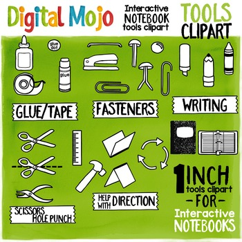 Interactive Notebook Tools Clipart – One Inch (2.5 cm)