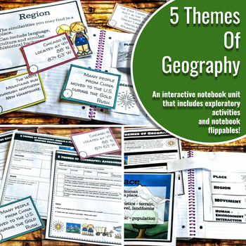 Interactive Notebook Unit with Flippables: Five Themes of