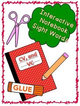 Interactive Notebook V, CV, VC Sight Words