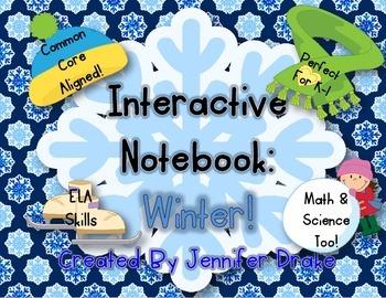 Interactive Notebook: Winter!  K-1 CC Aligned Activities F