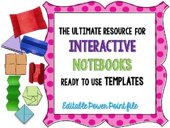 Interactive Notebook - foldable-flip flap templates {edita