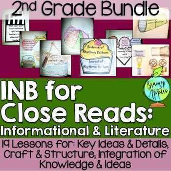 Close Reading Bundle Interactive Notebook 2nd Grade Free Sample