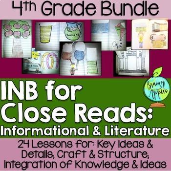 Close Reading Bundle Interactive Notebook 4th Grade Litera